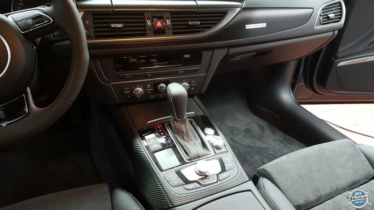 Interieur audi a6 dgs wrapping foliendesign for Interieur audi a6